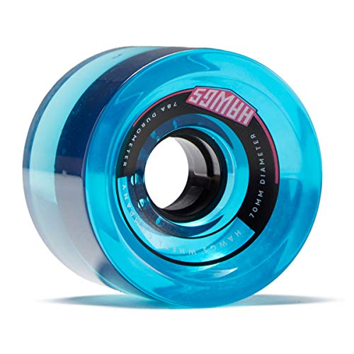 Hawgs 70's Hawgs Longboard Wheels - 70mm 78a - Clear Blue (Hawg Wheels)