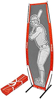 GoSports Baseball & Softball Xtraman Dummy Batter Pitching Training Mannequin - Practice Pitching Aid for