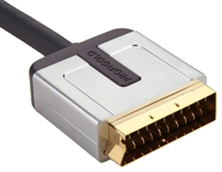 - Profigold 16FT 5m High Performance SCART Interconnect Cable with 24K Hard Gold Connectors