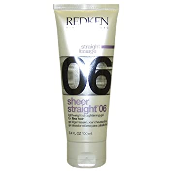 Redken Sheer Straight 06 Straightening Gel, 3.4 Ounce
