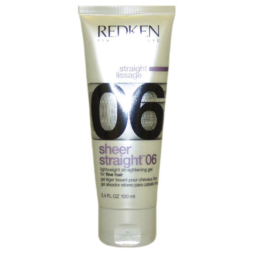 Redken Sheer Straight 06 Straightening Gel, 3.4 Ounce