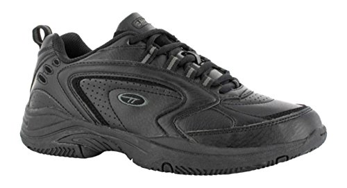Hi-Tec Xt-115 Jnr Shoes Lace Up Fastening Running Trainers Sports Footwear Black