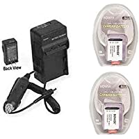 TWO 2 NP-BX1 Batteries + Charger for Sony Cyber-shoT, Sony DSC-RX100, Sony DSCRX100/B Camera