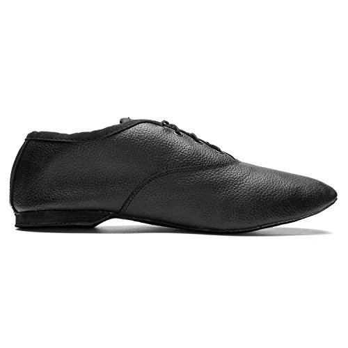Jazz Suede Fitness Dance Gymnastics Ladies Full Leather men 1261 Black Upper black Sports Shoes Dance Sole wCqAn57
