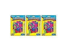 3 Pk, Bazic Caps Eraser Assorted Colors, 50 Per Pack / Total of 150
