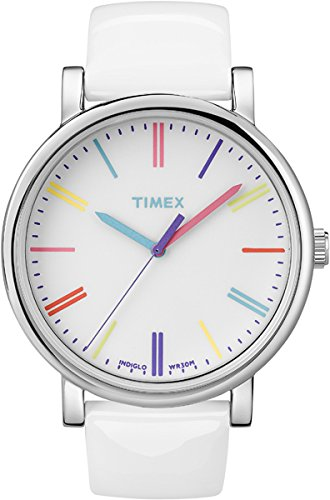 Timex Heritage Easy Reader White Leather Strap Unisex Watch T2N791