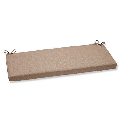 Pillow Perfect Sunbrella Linen Bench Cushion, Tan (Sunbrella Bench Cushion)