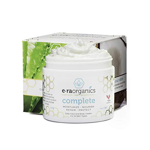 Face Moisturizer Cream Natural & Organic - Advanced 10-In-1 Non Greasy Daily Facial Cream with Aloe Vera, Manuka Honey, Coconut Oil, Cocoa Butter and More For Oily, Dry, Sensitive Skin 4.0oz/113.4g