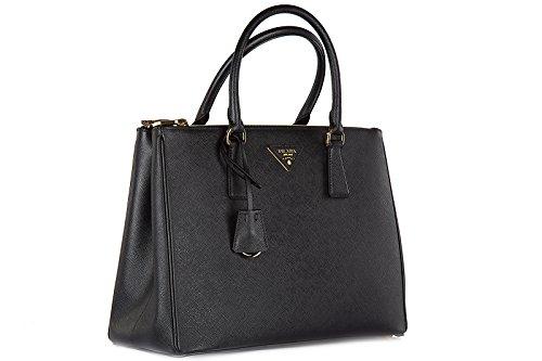 lux bandolulière sac galleria Prada main noir à femme zYnx1