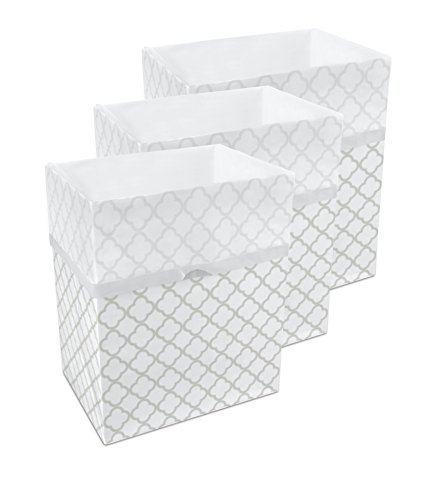 Clean Cubes 13 Gallon Disposable Trash Cans & Recycling Bins, 3 Pack (Trellis)