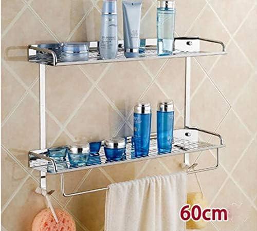浴室の棚ステンレス鋼の浴室ペンダントキッチンパーティションダブルウォールタオルバー LCSHAN (Color : 40cm)