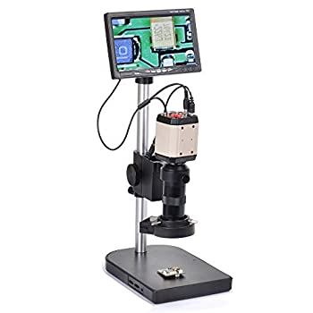 Image of Adapters 2.0mp Hd 3in1 Industry Digital Microscope Camera Kit +100x C-Mount Lens with Table Stand 7' LCD Monitor