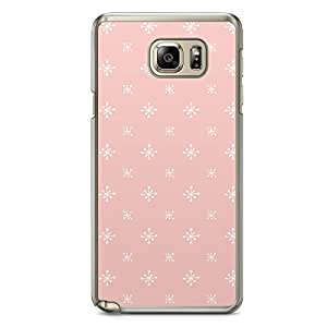 Confetti Samsung Note 5 Transparent Edge Case - Pink and White