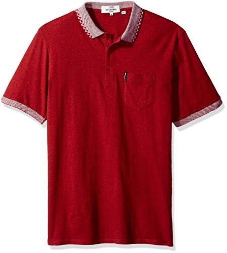 Ben Sherman Men's Checkerboard Tipp Collar Polo Shirt