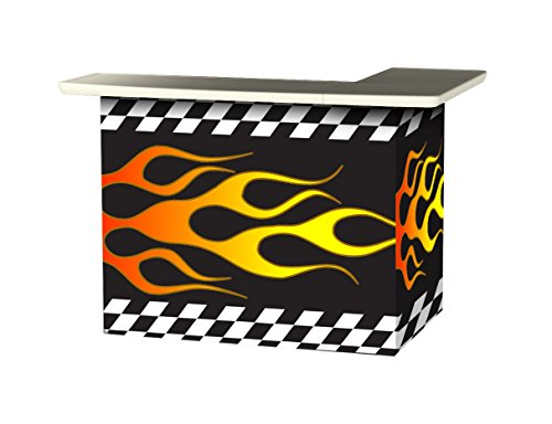 Best of Times Portable Patio Bar Table, Racing Flames