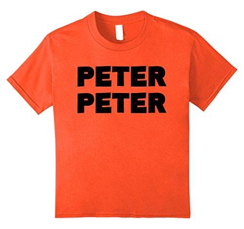 Kids Peter Peter T-Shirt Halloween Pumpkin Eater Costume Shirt 10 (Top 10 Couple Halloween Costumes 2017)