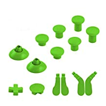 Gotor Xbox One Full Set Replacement Part (14 pcs) 6 Swap thumbsticks & 2 D-pads & 4 Hair Trigger Locks for Xbox One Elite Wireless Controllers Color Green