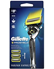 Gillette Proshield Mens Razor Handle + 3 Blade Refills