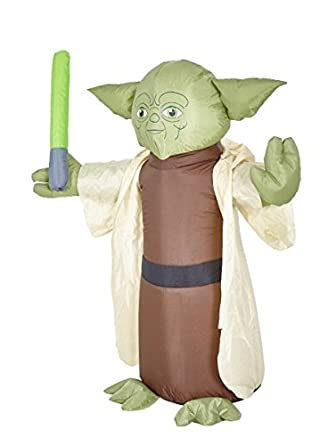 Morbid Enterprises Star Wars Yoda Lawn Inflatable Green/Brown/Tan/Black One Size M37985