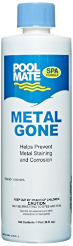 Metal Out Spa (Pool Mate Spa 1-2501SPA Metal Gone Sequestering Compound for Spas and Hot Tubs, 1-Pint)