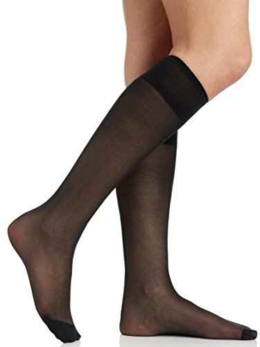 Berkshire Womens All Day Knee High Pantyhose with Reinforced Toe
