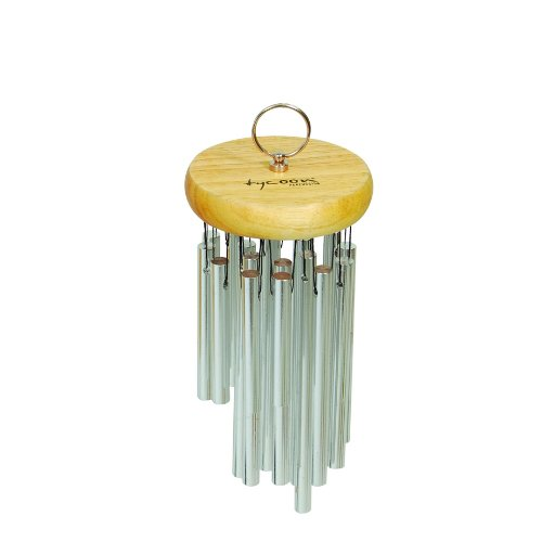 Tycoon Percussion 12 Chrome Plated Chimes On Siam Oak Bar by Tycoon Percussion