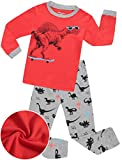 Boys Sunglass Dinosaur Pajamas Sleepwear Clothes 100% Cotton PJS for Toddlers Children Kids (Dinosaur, 7)