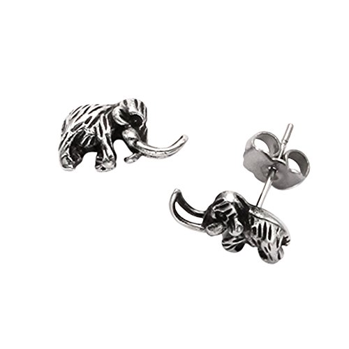 tiny-sterling-silver-woolly-mammoth-stud-earrings