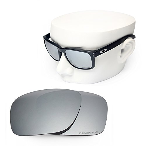 OOWLIT Replacement Sunglass Lenses for Oakley Holbrook Silver Mirror - For Oakley Lenses Sunglasses