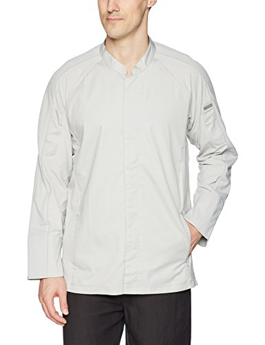Chef Works Men's Valencia Chef Coat, Gray Large