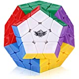 Roxenda Megaminx Speed Cube Pentagonal Dodecahedron Profession Cube Puzzle Toy - Easy Turning and Smooth Play - Solid Durable and Stickerless Frosted with Vivid Colors - Turns Quicker Than Original
