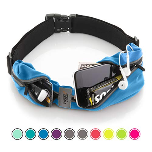 Sport2People Running Belt USA Patented  iPhone X 6 7 8 Plus Pouch for Runners - Best Fitness Gear for Hands-Free Workout - Freerunning Reflective Waist Pack Phone Holder - Running Accessories