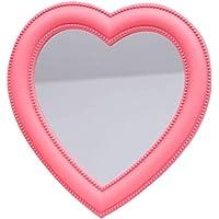 Heart Mirror Heart Makeup Mirror Cosmetic Mirror Wall Desktop Mirror Bedroom Mirror (Pink)