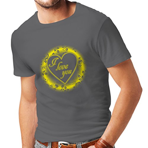 lepni.me T Shirts For Men I Love You ! Sexy Valentines Day Outfits (X-Large Graphite Multi - Images Monica St