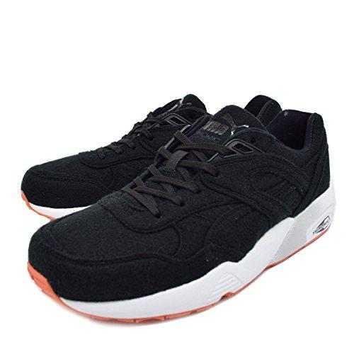 Puma - Zapatillas para hombre negro negro Blanco-Naranja-Negro