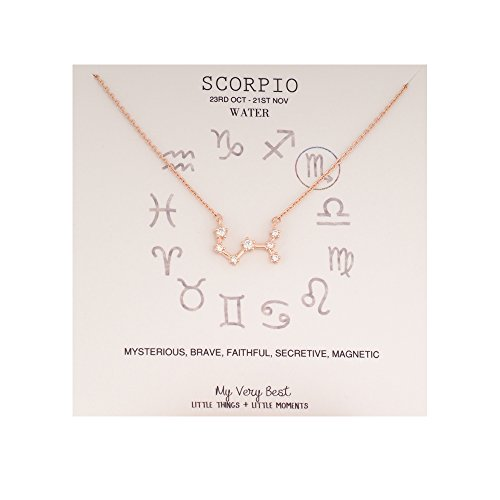 My Very Best Horoscope Constellation Zodiac Sign Necklace  Scorpio  Oct 23   Nov 21  Rose Gold Plated Brass