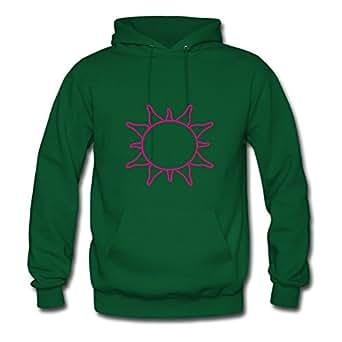 Sun Pink Green Diatinguish Custom-made Popular Sweatshirts X-large Women