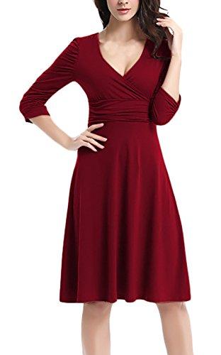 Damen Cocktailkleid Knielang Abendkleid Elegant Eng Festlich Vintage ...