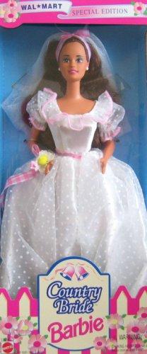 Barbie Country Bride Doll (Brunette) Wal Mart Special Edition (1994) Vintage Bride Doll