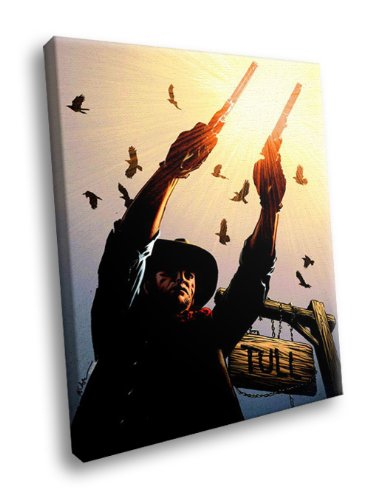 HD7610 The Dark Tower Gunslinger Stephen King Art 16x12 FRAMED CANVAS PRINT