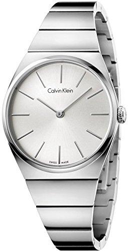 Calvin Klein Reloj Analogico para Mujer de Cuarzo con Correa en Acero Inoxidable K6C2X146: Amazon.es: Relojes
