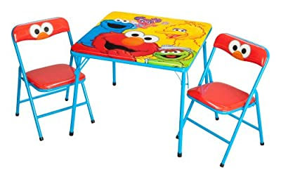 Delta Enterprise Sesame Street Activity Table And Chair Set