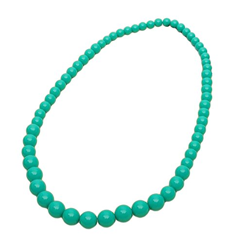 Red Cube Women Green Vintage Classic Plastic Beaded Thread Necklace Beads Jewelry (Green) (Plastic Beads Vintage)