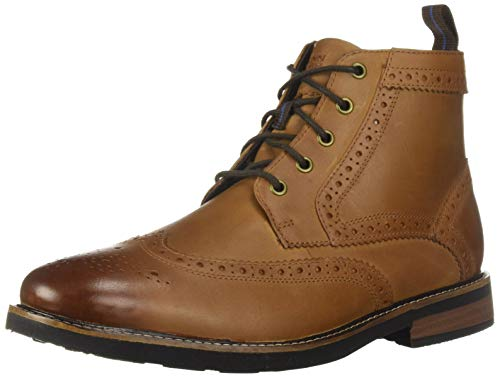 (Nunn Bush Men's Odell Wingtip Chukka Boot with KORE Comfort Technology with Tan Crazy Horse, 12 Wide)