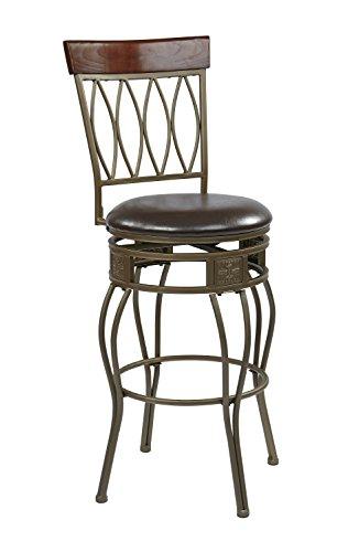 wood bar stools espresso - 3