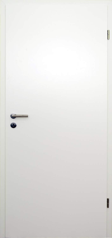 HORI/® Zimmert/ür Komplettset mit Zarge und T/ürdr/ücker I Innent/ür CPL Wei/ß I H/öhe 198,5 cm I Anschlag Breite und Wandst/ärke w/ählbar I DIN rechts I 1985 x 985 x 120 mm
