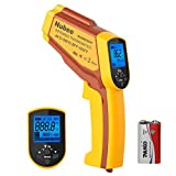 Nubee NUB8550AT Dual Laser Digital Infrared Thermometer -58°F~ 1022°F (-50°C ~ 550°C) with Adjustable EMS & Data Memory & Max/Min/AVG/DIF/HAL/LAL for Cooking Meat Kitchen Refrigerator Pool Oven