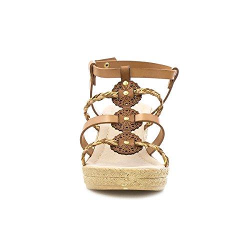 Lilley - Keil Sandale mit Bügeln für Frauen durch Lilley Braun