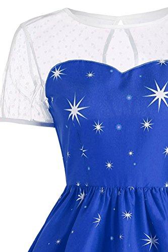MisShow Damen Vintage Weihnachtskleid Festlich Rockabilly Kleid mit ...