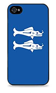 Blue Barracudas Legends of the Hidden Temple Black 2-in-1 Protective Case with Silicone Insert for Apple iPhone 4 / 4S